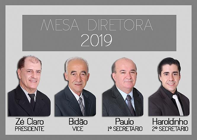 Vereadores elegem Mesa Diretora para o exercício de 2019