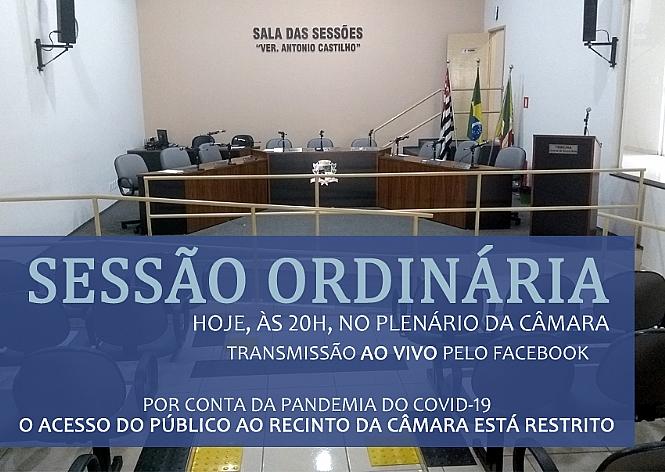 Câmara realiza hoje, às 20h, a 1ª Sessão Ordinária